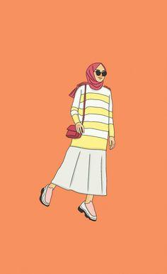 ???????? #hijab #hijab #kartun Cartoon Girl Drawing, Girl Cartoon, Hijab Logo, Muslim Pictures, Fashion Model Drawing, Hijab Drawing, Cute Journals, Modern Hijab Fashion, Anime Muslim