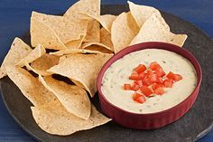Queso blanco deliciousness and tangy sour cream put the creamy in this quick-to-make dip. And for the kick? We added pickled jalapeño nacho slices.