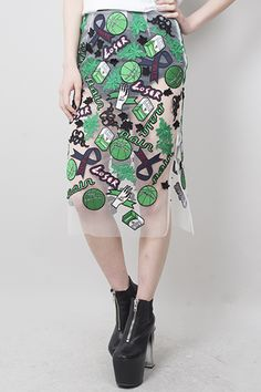 [HYEIN SEO] emblem basketball skirt / GREEN | LADY'S | | FAKE TOKYO.com