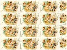 Shabby chic Fairies digital collage sheets for scrapbook and cards DC37 Fairy…