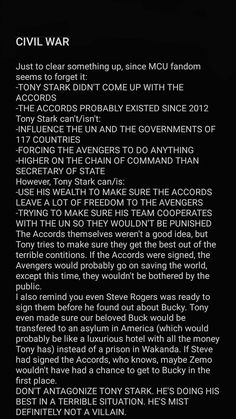 Tony and Cap were both wrong and right about the accords. Had Zemo not interfered they could have come to a mutually beneficial compromise. Marvel Jokes, Marvel Funny, Marvel Dc Comics, Marvel Avengers, Tony Stank, We Have A Hulk, Iron Man Tony Stark, Fandoms, Dc Movies