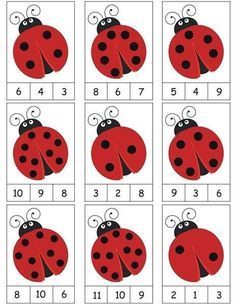 ladybug counting activity More on math and learning in general zentral-lernen.de Source by tinkerbel Counting Activities, Preschool Learning Activities, Preschool Activities, Space Activities, Math Games, Color Activities, Activity Games, Numbers Preschool, Kindergarten Math Worksheets