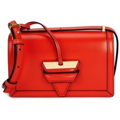 Loewe Barcelona Small Leather Shoulder Bag (92.890 RUB) ❤ liked on Polyvore featuring bags, handbags, shoulder bags, real leather handbags, leather shoulder handbags, red shoulder bag, shoulder bag purse and real leather shoulder bags