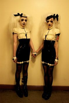 adora batbrat and jenn wimmerstedt  twinning/mirror idea!
