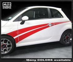 Choose Color Fiat 500 2007-2015 Sport Spoiler Wing Top Highlight Stripe Decal