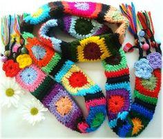 Lidia Luz: De colores, crochet scarf
