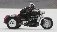 Klock broke yet another record at a top speed of 136 MPH on the Triumph Rocket III Motor Trike, which Triumph Motorcycles partnered in making. - See more at: http://www.mitchellrepublic.com/content/team-klock-werks-gets-record-trike#sthash.wgwrRKuA.dpuf