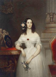 ab. 1840 Joseph-Désiré Court - Portrait of Yekaterina Scherbatova