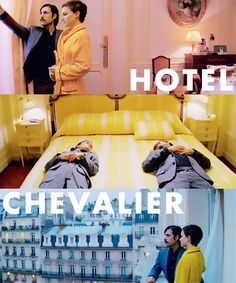 """I didn't hurt you on purpose"" ""I don't care""  Hotel Chevalier (such a lovely film)"