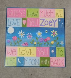 """Moonlit Garden""  Personalized Baby Sign.   $80.00, via Etsy.  Paint'd Shabby"