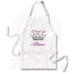 Queen of Bunco Apron - For Me? - Or A Prize?