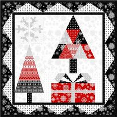 Quilt Inspiration: Free pattern day: Christmas 2015 (part 1)