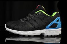 Adidas ZX FLUX Black-Blue женские размеры в наличии бесплатная доставка
