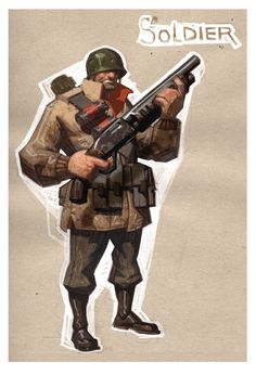 Team Fortress 2 concept art - This suggestions was upload at by Team Fortress 2 concept a Game Character, Character Concept, Concept Art, Character Costumes, Character Reference, Team Fortess 2, Pixel Art, Guy Drawing, Drawing Ideas