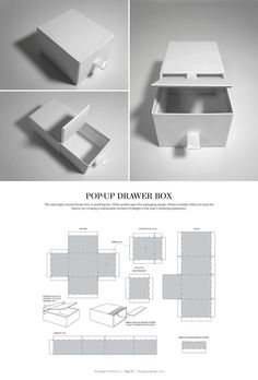 Pop-Up Drawer Box – FREE resource for structural packaging design dielines: