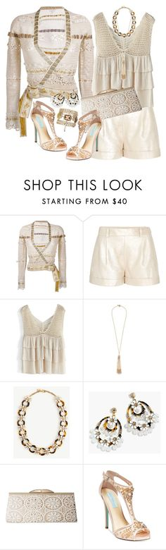 """""""Crochet challenge: dressy"""" by tippy1717 ❤ liked on Polyvore featuring Etro, Diane Von Furstenberg, Chicwish, Miriam Haskell, Ann Taylor, J.Crew, Jessica McClintock and Betsey Johnson"""