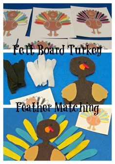 Free Turkey Feather Matching Cards from Teach Beside Me