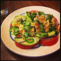 I Don't Go to the Gym: Guacamole Chopped Salad with Cilantro Lime Vinaigrette