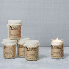 Meow Meow Tweet Scented Candles | vegan, 96% organic and never tested on animals. Fragranced with essential oils, these treasures are packaged in recycled materials with hand-printed designs