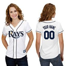 Tampa Bay Rays Women's Personalized Replica Jersey by Majestic Athletic