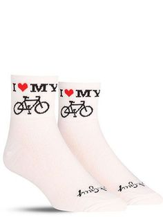 Heart My Bike Socks | Mens