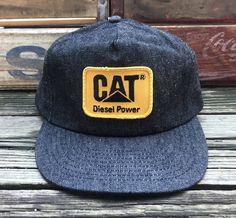 677e55611 Black Denim, Vintage Black, Caterpillar, Diesel, Snapback, Shirts, Snapback  Hats, Snapback Cap, Baseball Hat