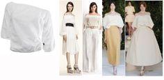 white romantic t-shirt in cotton Robe di Kappa for spring-summer 2014 --- t-shirt bianca scollata in cotone Robe di kappa per un look particolarmente fashion in estate 2014
