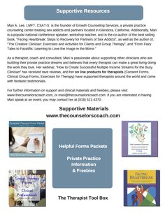 Supportive materials, forms packets, resources and freebies for private practice therapists!