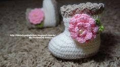 Sapatinhos Para Bebê - Life Baby: Botinhas em Crochê para Bebê
