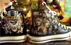 Guns N' Roses on Converse I want these so badly oh my goodness.
