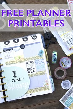 Are you a fellow Planner Nerd? Check out these 10 Free Planner Printables that I've rounded up! Planner Stickers galore!!