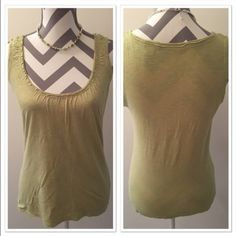 Liz Claiborne Green tank Beautiful dressy tank top! Pale green color. 58% cotton 42% modal. Scoop neck. 23 in long. Bust 15 1/2. Medium. Liz Claiborne Tops Tank Tops