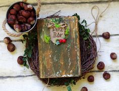 Forest Wedding Guest Book   Personalized Woodland by CraftPointPL