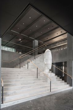 Universal Design Studio's latest project, At Six Hotel Stockholm, is home to one of Europe's most ambitious contemporary art collections within a hotel. Staircase Railings, Grand Staircase, Staircase Design, Stairs, Staircases, Architecture Details, Interior Architecture, Interior Design, Six Hotel