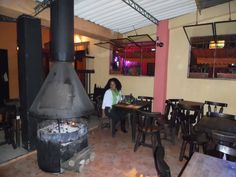"""Very typical restaurant in the oldest part of Bogota.  Some of these buildings date back to the 1500s.  Who says the """"New World"""" doesn't have history?!!!"""