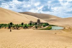 Source of the crescent moon. This gap in the desert is a nice getaway from Dunhuang, just five kilometers. PATRIC JONSSON / ACI