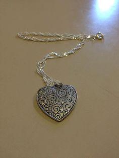 Beautiful Heart Necklace by originalsbyem on Etsy My Etsy Shop, Necklaces, Heart, Silver, Beautiful, Jewelry, Fashion, Moda, Jewlery