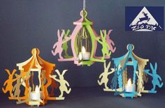 """3D SVG and studio file    Lantern """"Happy Easter"""" a decor for dancing  bunnies."""