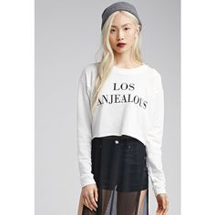 Forever 21 Los Anjealous Graphic Pullover ($16) ❤ liked on Polyvore