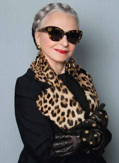 You're never too old for a pair of powerful glasses! according to Joyce Carpati .