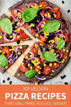 Looking for delicious vegan pizza recipes you can make at home? Come check out this list of the best vegan pizza recipes! Gluten-Free Vegan Pizza Recipes | Vegan Breakfast Pizza Recipes | Vegan Lunch Pizza Recipes | Vegan Dinner Pizza Recipes | → VegByte.com | #veganpizzarecipes #vegandietrecipes