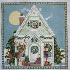 Christmas House 1138E Needlepoint Canvas by Melissa Shirley Designs | eBay  $150