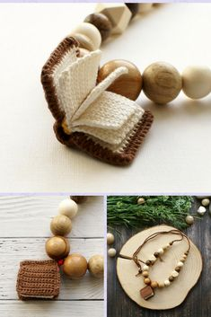 Your place to buy and sell all things handmade Nursing Necklace, Teething Necklace, Breastfeeding Necklace, Teething Toys, Crochet Books, Stylish Jewelry, Beige Color, Wooden Beads, Necklaces