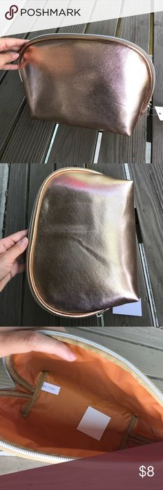 Nordstrom cosmetic bag large new Nordstrom cosmetic bag large new gold Nordstrom Bags Cosmetic Bags & Cases