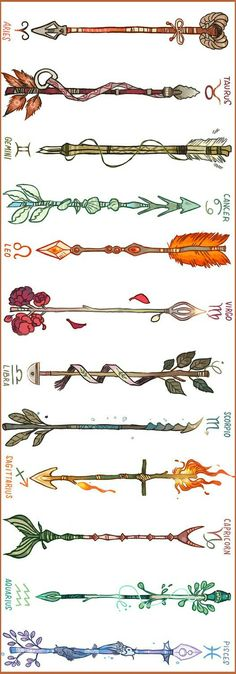 Zodiac Arrows, choose your weapons...