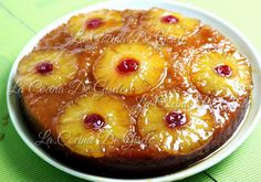 Upside down pineapple cake Pineapple Upside Down Cake, Pineapple Cake, Baking Recipes, Cake Recipes, My Favorite Food, Favorite Recipes, Venezuelan Food, Colombian Food, Pan Dulce