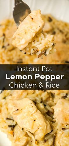 Instant Pot Lemon Pepper Chicken and Rice - This is Not Diet.- Instant Pot Lemon Pepper Chicken and Rice is an easy and delicious chicken dinner recipe. This creamy long grain and wild rice dish is loaded with tender chicken breast chunks. Instant Pot Pressure Cooker, Pressure Cooker Recipes, Pressure Cooking, Pressure Cooker Chicken Soup, Rice Cooker Recipes, Casserole Recipes, Slow Cooker, Instant Pot Dinner Recipes, Chicken Breast Instant Pot Recipes