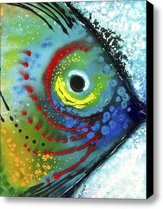 Tropical Fish Stretched Canvas Print / Canvas Art By Sharon Cummings