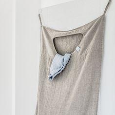 Natural Hanging Linen Laundry Bag: Remodelista