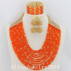 Fashion Nigerian African Wedding Beads Jewelry by AlisaJewelry2014, $53.40